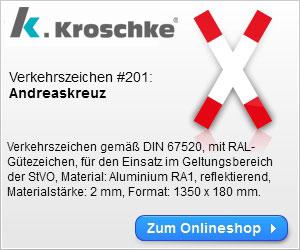 Verkehrszeichen: Andreaskreuz
