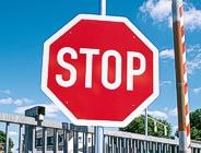 STOP-Schild in der Anwendung