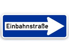 Schild: Einbahnstraße