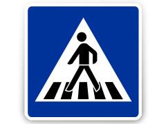 Schild: Fußgängerüberweg